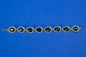 Изумрудный свадебный браслет №18