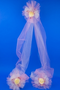 Свадебный платок белый ажурный №23