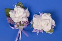 Фиолетовый набор бутоньерок для свидетелей №3