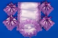 Фиолетовый венчальный набор №8