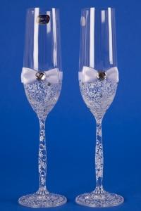 Белые свадебные бокалы №8