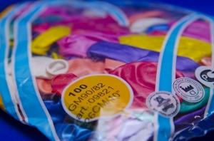 Воздушные разноцветные шарики-перламутровые