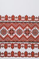Свадебный рушник с орнаментом (красный) №21
