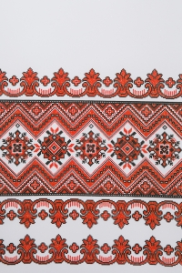 Свадебный рушник с орнаментом (красный)