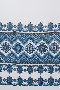 Свадебный рушник с орнаментом (синий)