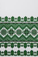 Свадебный рушник с орнаментом (зеленый) №25