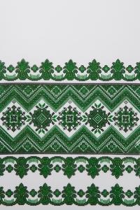 Свадебный рушник с орнаментом (зеленый)