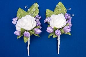 Сиреневые бутоньерки для свидетелей,сватов №18