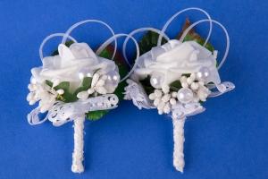 Белые цветочки на свадьбу №14