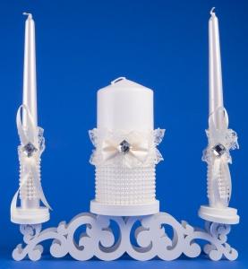 Бежевые свечи домашний очаг №3
