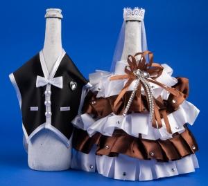 Шоколадное украшение для шампанского №9