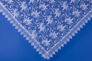 Свадебный белый платок для покрывания №20