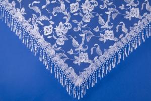 Белый платок на свадьбу №18