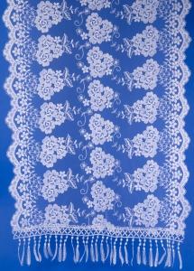 Свадебный белый шарф  №1