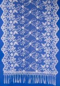 Свадебный бежевый шарф для венчания №4