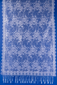 Белый шарф для венчания с блеском №7