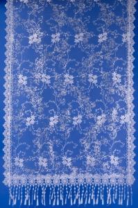 Свадебный белый шарф для венчания №8