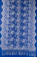 Бежевый ажурный шарф для венчания №19