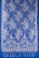 Ажурный бежевый шарф с блеском на свадьбу №17