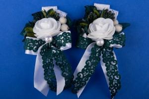Зеленые бутоньерки на свадьбу №34