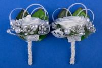 Свадебные бутоньерки в серебре №38