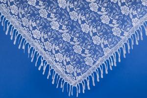Свадебный белый платок №19