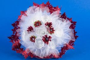 Букет-дублер в бордовом цвете для невесты №25