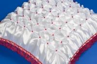 Красная наволочка на свадебную подушку №5