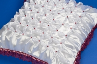 Бордовая наволочка на свадебную подушку №7