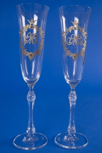 Свадебные бокалы Mr&Mrs (золото) №3