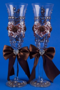 Шоколадные свадебные бокалы №8