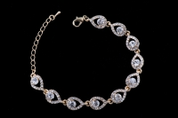 Свадебный браслет - золотая роскошь №12