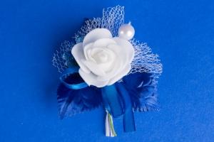 Синяя бутоньерка №16
