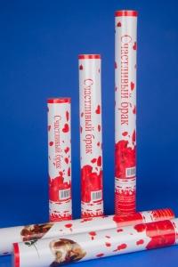 Хлопушка -конфетти лепестки роз №3