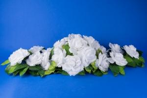 Белая свадебная икебана на машину №5