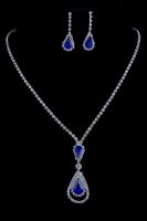 Комплект украшений с синими камнями №20