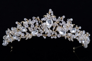 Диадема в золоте с кристаллами №7