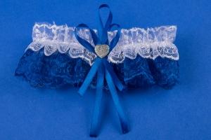 Подвязка невесты для синей свадьбы №6
