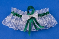 Подвязка невесты в изумрудном цвете №19