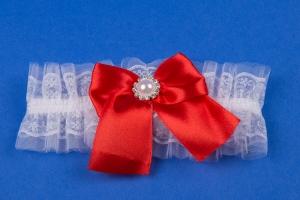 Красная подвязка на свадьбу №4