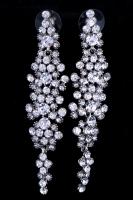 Серьги длинные с кристаллами №107