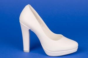 Свадебные  белые туфли на платформе