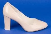 Свадебные бежевые лаковые туфли