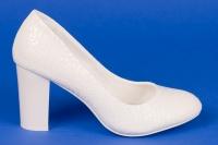 Белые туфли с узором на свадьбу