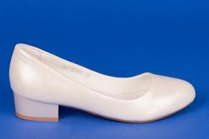Свадебные туфли на низком каблуке (айвори)
