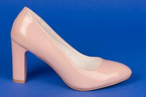 Туфли на среднем каблуке (розовая пудра)