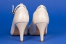 Свадебные бежевые туфли с ремешком