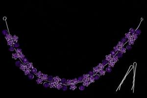 Украшение с фиолетовыми камнями №37
